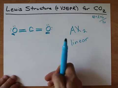 Lewis Structure Vsepr For Co2 Youtube