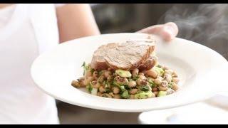 Broiled Pork Tenderloin With Black-eyed Peas | Everyday Food With Sarah Carey