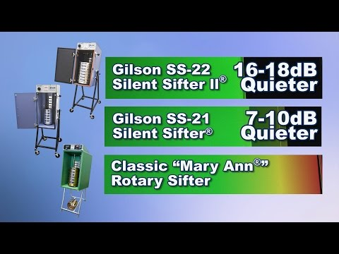Gilson Silent Sifters® are the Quietest (SS-21, SS-22)