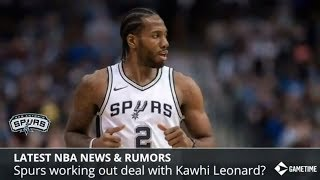 nba news rumors kawhi leonard staying with spurs karl anthony towns and kyrie irving trade