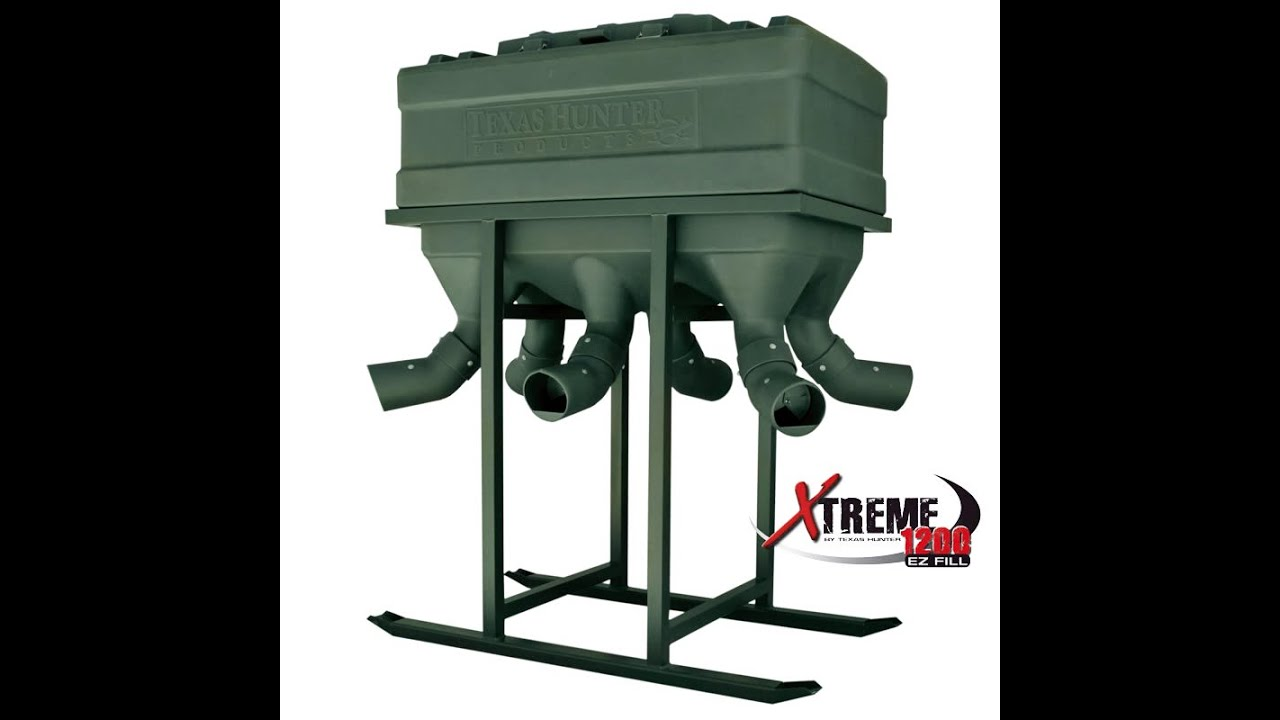Xtreme Protein Gravity Feeders with Advanced Adjustable Feed Flow System by  Texas Hunter Products