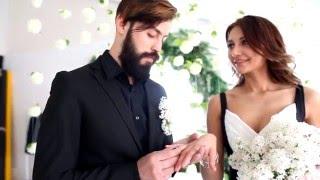 Черно-белая свадьба | постановочная съемка концепции свадьбы