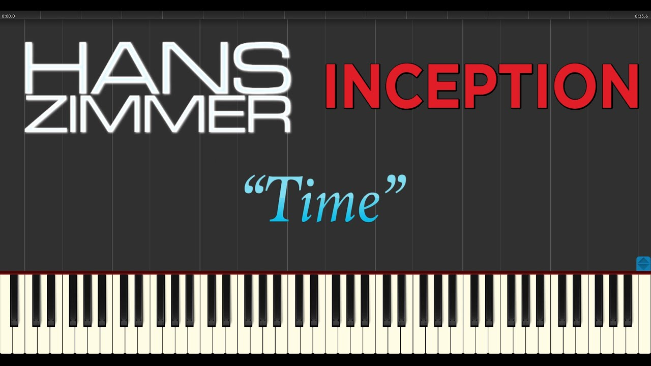 Time hans zimmer chords piano