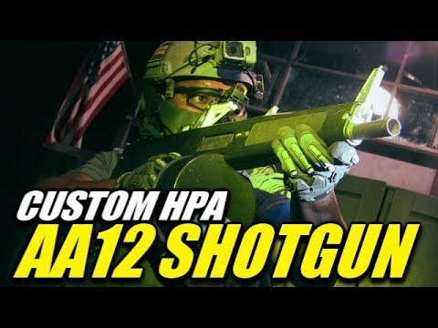 A Straight Up CQB Airsoft Killer! - Full Auto HPA AA12 Shotgun