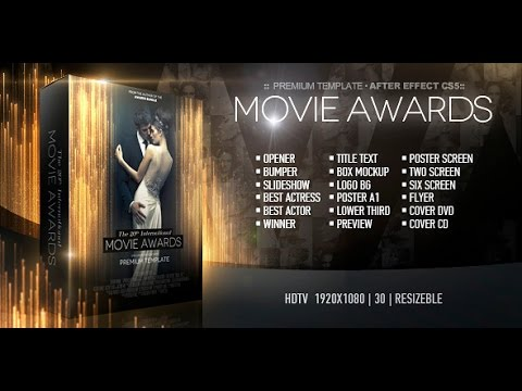 Movie Awards Bundle — After Effects project | Videohive template ...