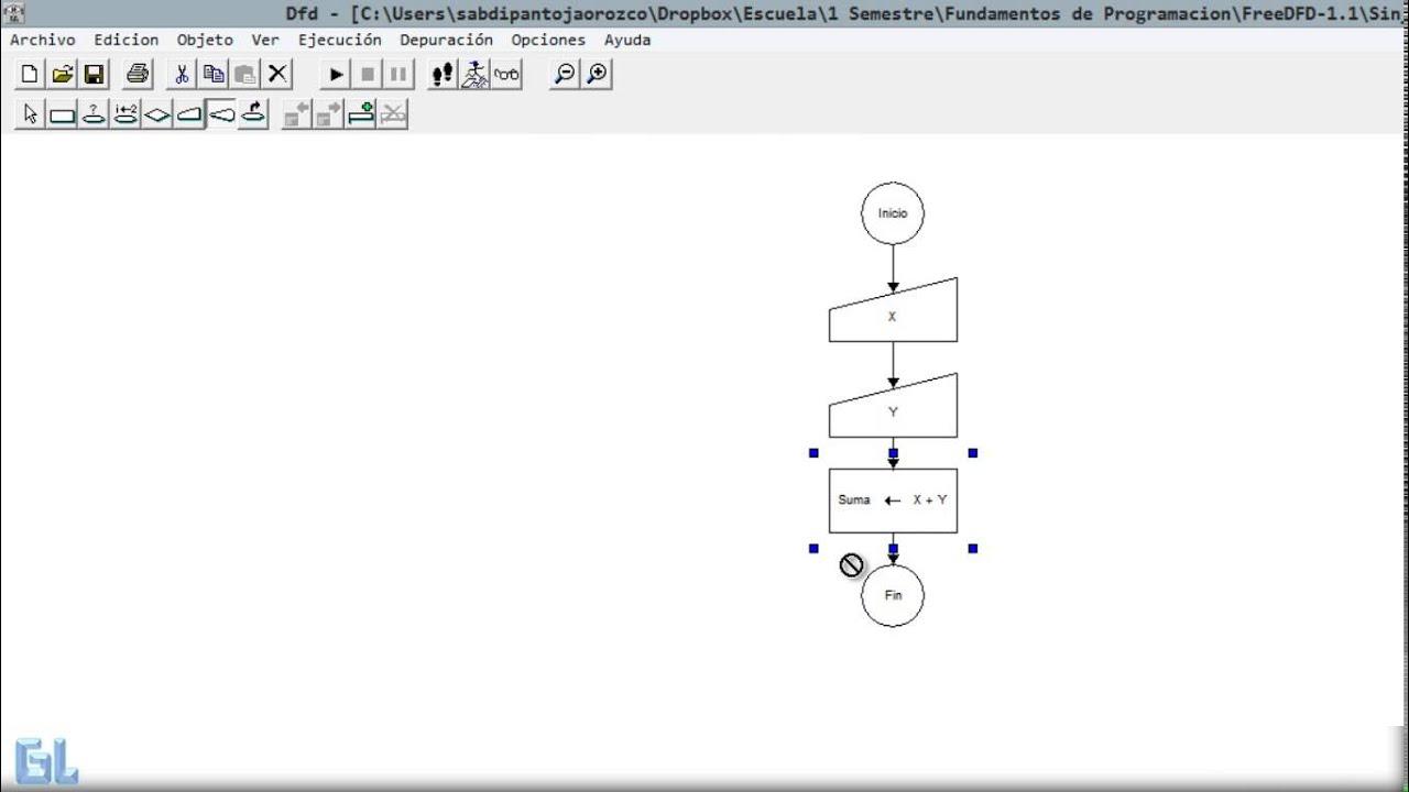Diagramas de flujo dfd suma de 2 numeros youtube diagramas de flujo dfd suma de 2 numeros ccuart Images