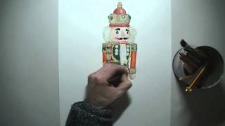Drawing Timelapse: The Nutcracker - Classic Soldier Christmas Drawings