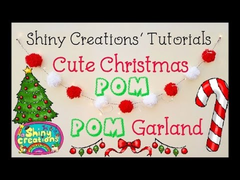 christmas pom pom garland tutorial