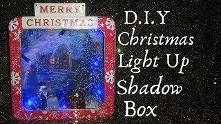 D.I.Y. Christmas Light up Shadow Box 2018