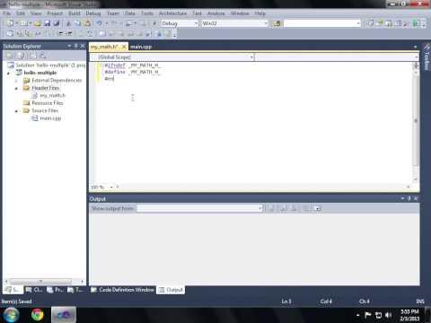 C++ Multiple File Visual Studio Build