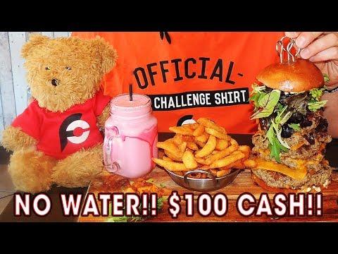 6-Patty Burger, Chips, & Strawberry Milkshake in 8 Minutes??