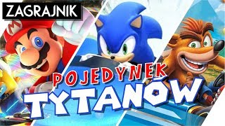 Mario vs Sonic vs Crash - POJEDYNEK gokartów!