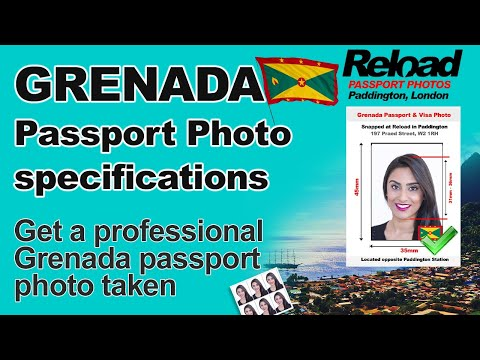 Grenada Passport Photo requirements and Visa Photo specifications