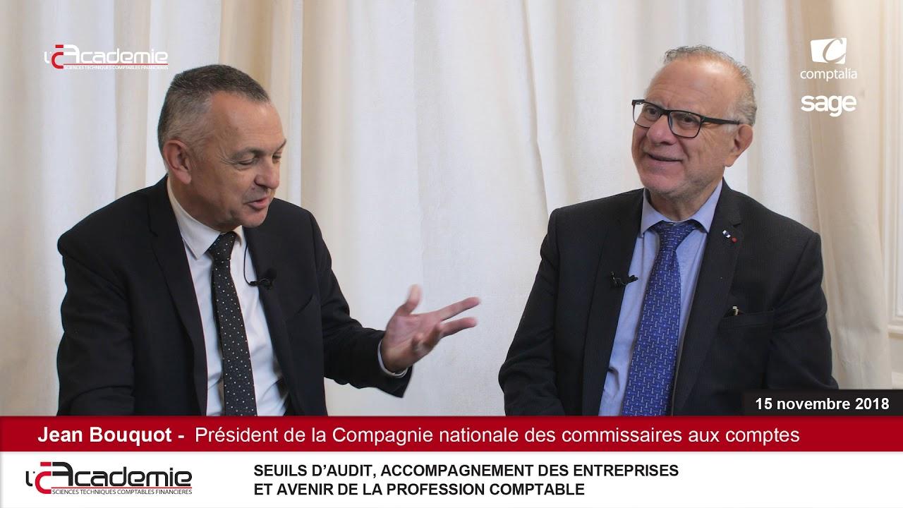 """Les Entretiens de l'Académie // Série """"Audit : Jean Bouquot /CNCC (3/8)"""