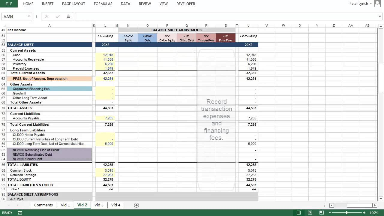 simple lbo model template simple lbo youtube