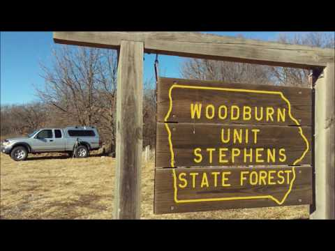 Hiking Iowa's Stephens State Forest to Bottom Oak Camp and cooking a steak