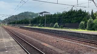787系 肥薩おれんじ鉄道試運転 肥後田浦駅発車