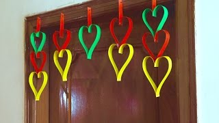 Paper Heart door Decor | DIY hanging Decoration for Valentine's day gift and decor ideas | Toran