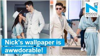 Aww-dorable, Nick Jonas' screen saver is his wedding picture