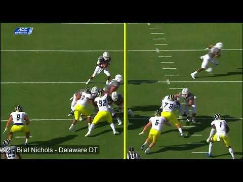 Bilal Nichols (Delaware DT) vs Va Tech 2017