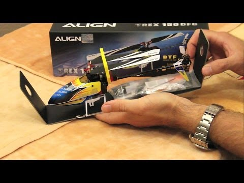 ALIGN Trex 150 Unboxing and binding to Spektrum radio with Alan Szabo Jr.