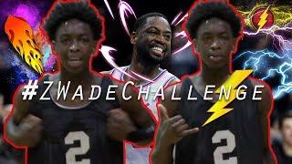 Zaire Wade New Dunking CHALLENGE! #ZWadeChallenge! Z-WADE KEEPS GETTING BETTER!
