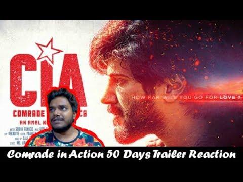 Comrade In America (CIA) 50 Days Trailer Reaction | Dulquer Salmaan | CIA Trailer Reaction