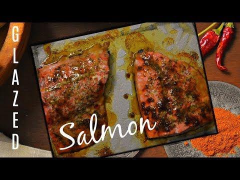 TASTY BAKED WILD ALASKAN SALMON RECIPE WITH BROWN SUGAR - SALMON DINNER RECIPE