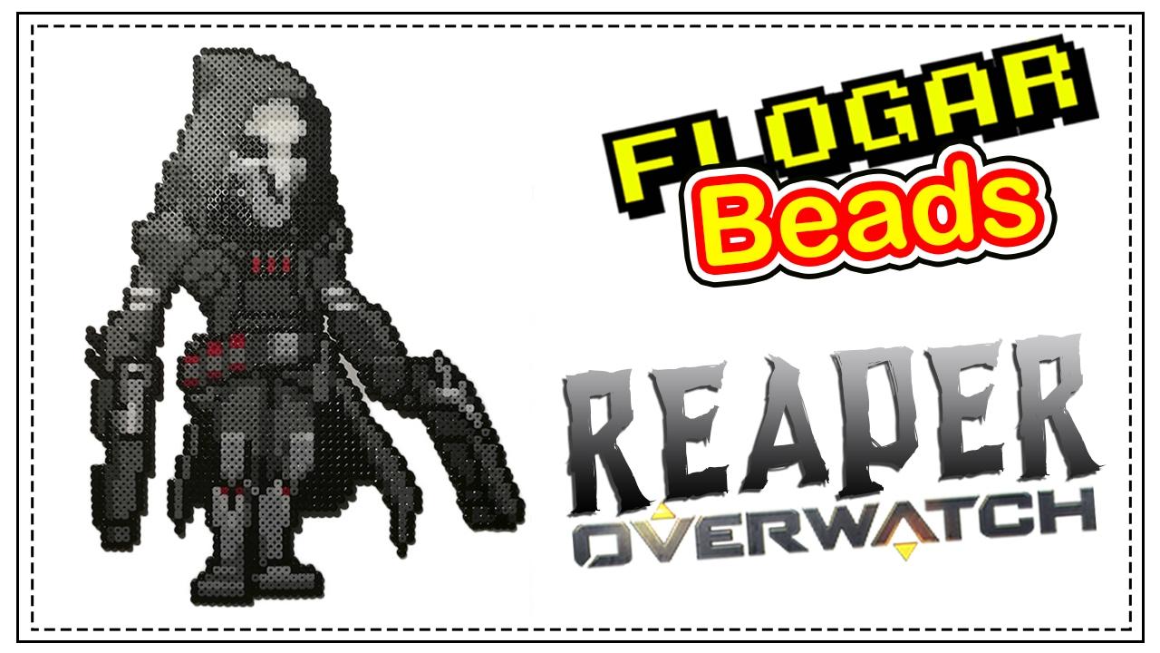 Reaper Overwatch Hama Beads De Videojuegos 6 Diy Flogar Beads