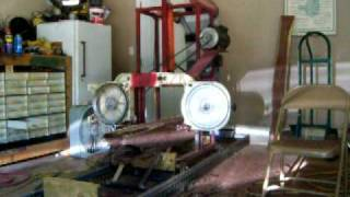 Homemade Bandsaw Sawmill # 1 - Blade Broke!!!!! Accident (1 Gen)
