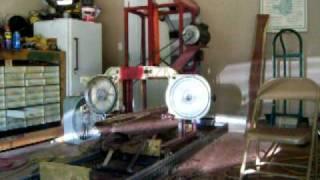 Homemade Bandsaw Sawmill # 1 - Blade Broke!!!!! Accident (1 Gen)