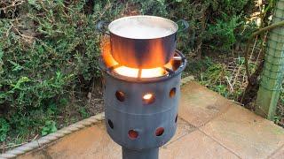 Homemade multi-function gas bottle wood burner