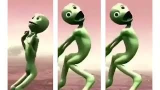 Yeşil Uzaylı Yeni Dansı Normal Yavaş Hızlı