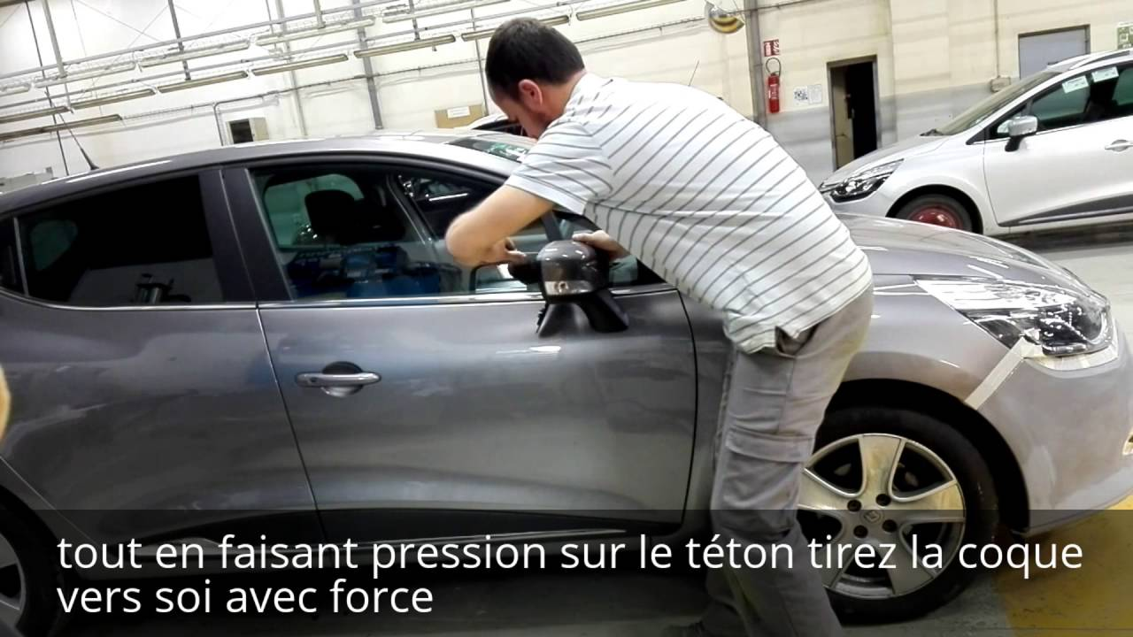 tuto d montage coque de r tro clignotant renault clio 4 disassembly outside mirror clio 4