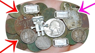 TREASURE FOUND IN NAKED GUYS YARD! METAL DETECTING OLD COINS & SILVER GALORE! PHONE HOME!