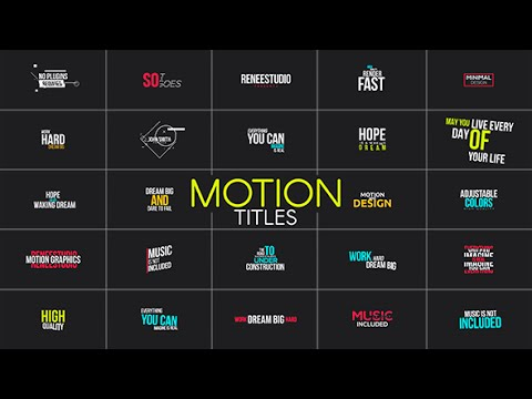 motion 5 title templates - motion titles after effects template youtube