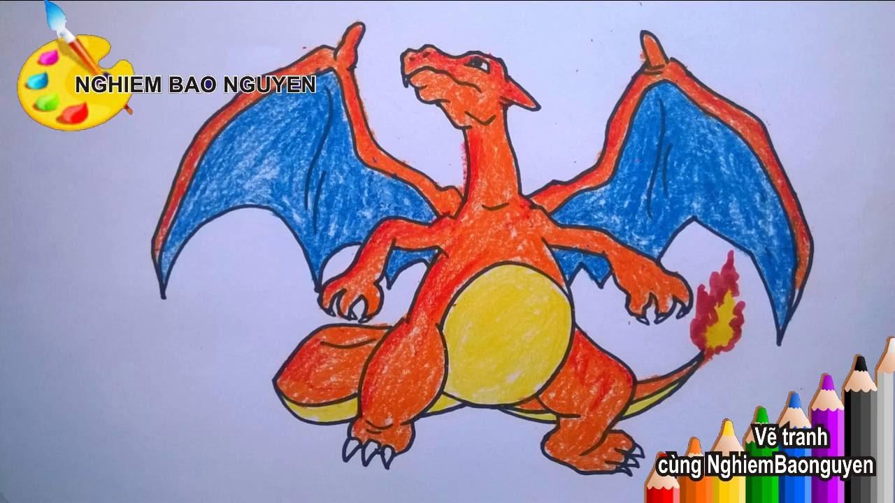 Vẽ rồng lửa Charizard trong Pokemon/How to Draw Charizard from Pokemon - YouTube