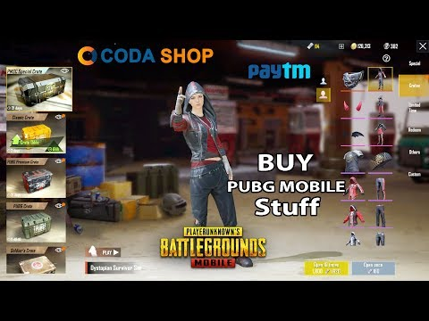 How To Buy Pubg Mobile Skins/Crates/Royal Pass With Paytm - Codashop