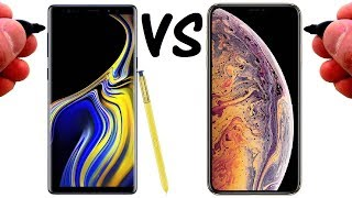 DRAWING the Galaxy Note 9 VS the iPhone XS Max