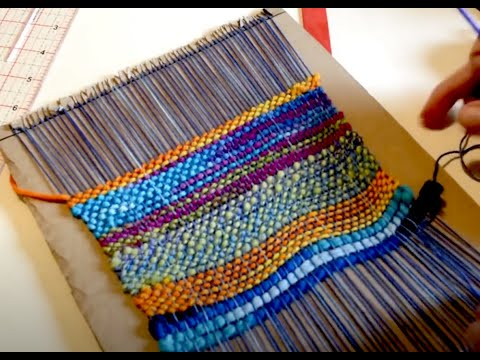 Make a kid's weaving loom from cardboard, part 1