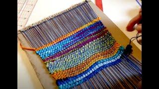 Make a kid's weaving loom from cardboard, part 1