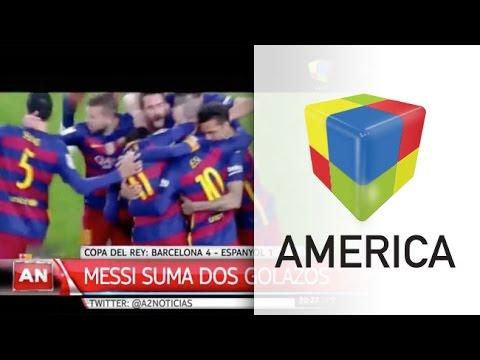 Messi anotó por dos y Barcelona humilló en el clásico catalán
