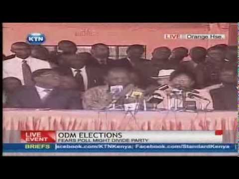 Orange Democratic Movement Party briefing on elections By Anyang' Nyong'o