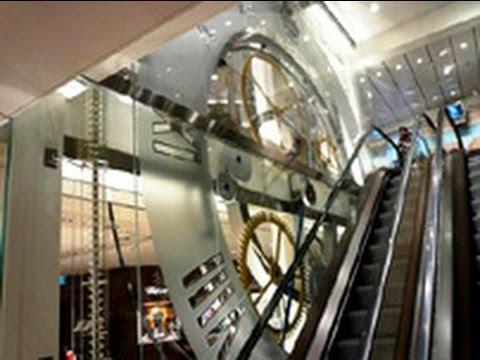 The World S Largest Rolling Ball Clock At Bucherer Rolex