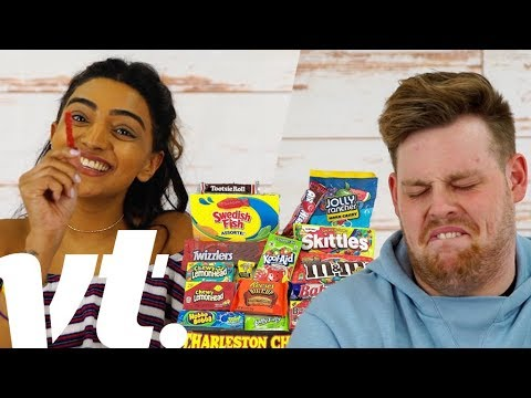 British People Trying American Candy   VT Challenges