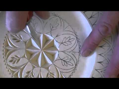 photograph about Printable Chip Carving Patterns referred to as Chip Carving a Rosette