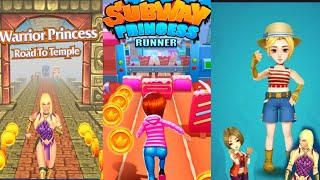 Subway princess runner Vs Warrior princess temple  Game Android 2020 screenshot 4