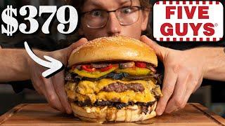 $379 Five Guys Ba¢on Cheeseburger Taste Test | FANCY FAST FOOD