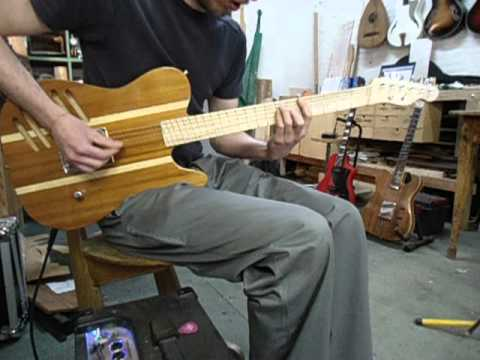 telecaster prototype multi scale fretboard open plywood body hollow neck youtube. Black Bedroom Furniture Sets. Home Design Ideas