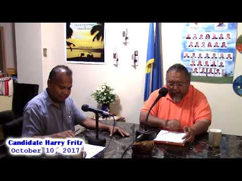 Candidate for Governor of Koror State, Harry Fritz. Hosted by: Kambes Kesolei (10.10.17)